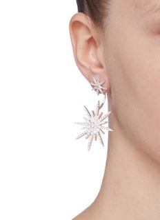 CZ by Kenneth Jay Lane Cubic zirconia detachable starburst stud earrings