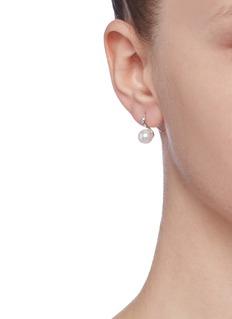 CZ by Kenneth Jay Lane Cubic zirconia faux pearl earrings