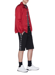 McQ Alexander McQueen Logo embroidered outseam sweat shorts