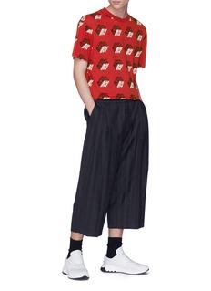 McQ Alexander McQueen Stripe virgin wool-cotton cropped jogging pants