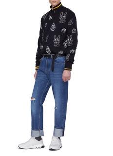 McQ Alexander McQueen Mix graphic embroidered sweatshirt