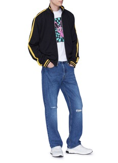 McQ Alexander McQueen Stripe sleeve virgin wool track jacket