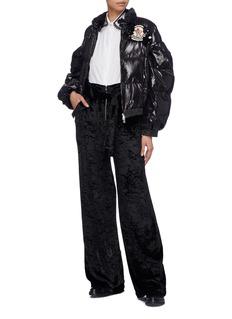Moncler Genius x Simone Rocha 'Carrie' embellished logo down puffer jacket