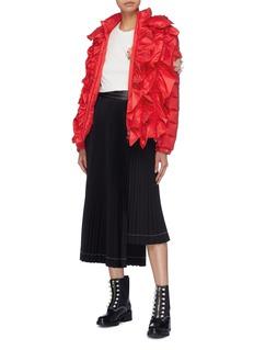 Moncler Genius x Simone Rocha 'Darcy' ruffle stripe hooded down puffer jacket