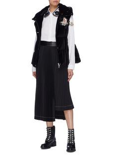 Moncler Genius x Simone Rocha 'Jane' hooded quilted velvet gilet
