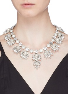 Erickson Beamon 'Jam' Swarovski crystal glass pearl bib necklace