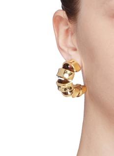 Erickson Beamon 'Metallica' hoop earrings