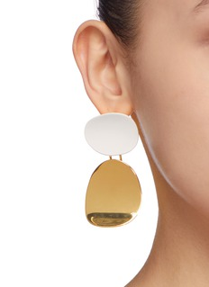 OOAK Colourblock mismatched detachable geometric drop earrings