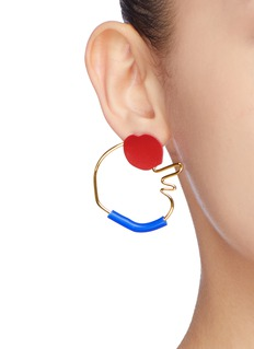 OOAK 'Abstract Outline' detachable hoop earrings