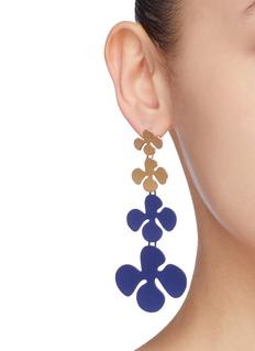 OOAK 'Petaloid' mismatched detachable drop earrings