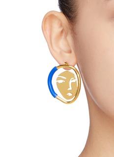 OOAK 'Portrait' mismatched earrings