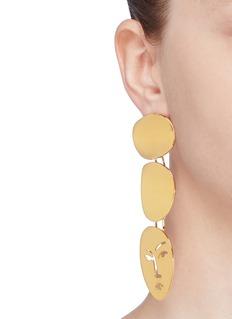 OOAK 'Portrait' detachable drop earrings