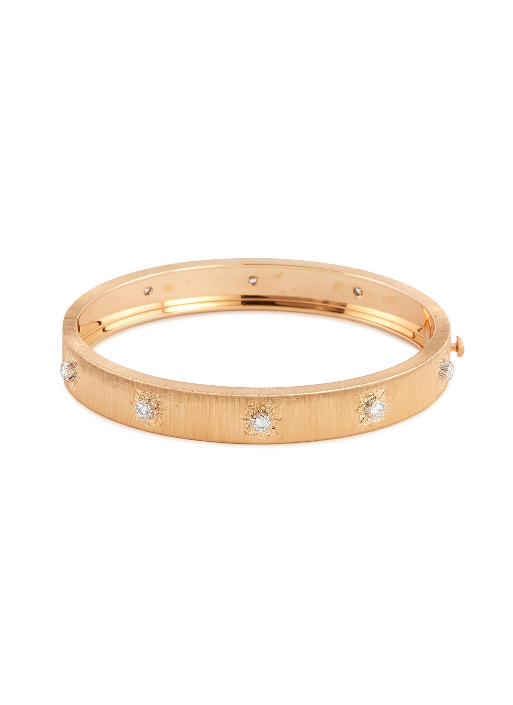 'Macri Classica' diamond gold bangle