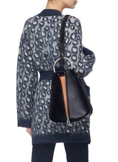 Proenza Schouler 'Vertical Zip' suede gusset leather backpack