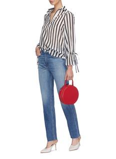 alice + olivia 'Geraldine' drawstring cuff stripe tunic top