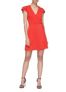 alice + olivia 'Doralee' ruffle sleeve wrap dress
