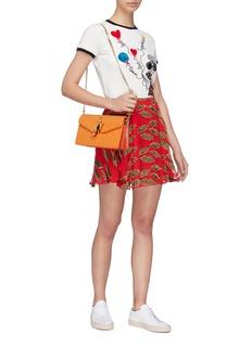 alice + olivia x Donald Robertson 'Blaise' cheetah lip burnout skirt