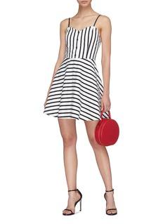 alice + olivia 'Nella' button stripe dress