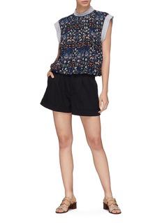 alice + olivia 'Conry' roll cuff shorts