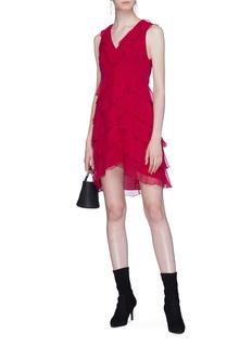 alice + olivia 'Felicita' tiered ruffle silk chiffon dress