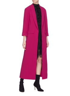 alice + olivia 'Angela' shawl lapel open maxi coat