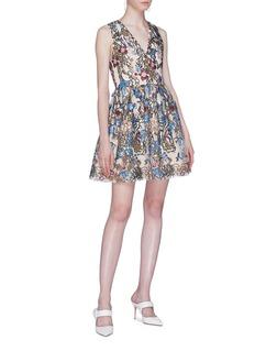 alice + olivia 'Becca' floral embellished dress