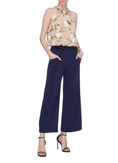 alice + olivia 'Ferris' button wide leg pants