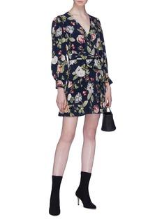 alice + olivia 'Hannah' belted floral print wrap dress