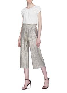 alice + olivia 'Elba' plissé pleated paperbag culottes