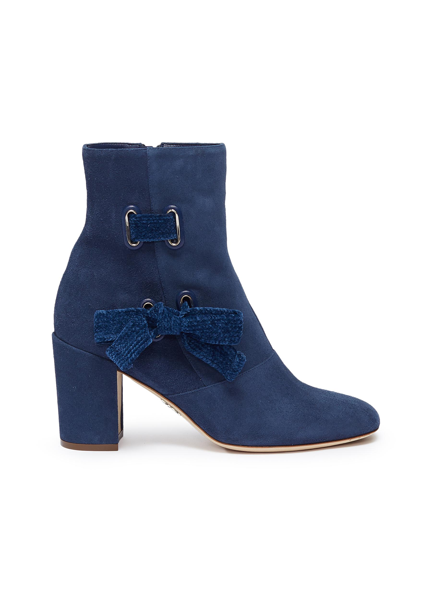 Ribbon suede ankle boots by RODO