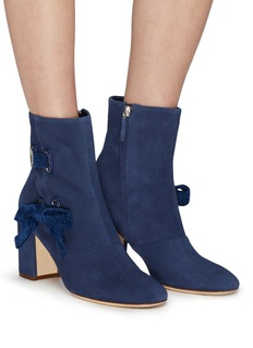 RODO Ribbon suede ankle boots