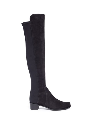 Main View - Click To Enlarge - STUART WEITZMAN - 'RESERVE' suede KNEE HIGH BOOTS