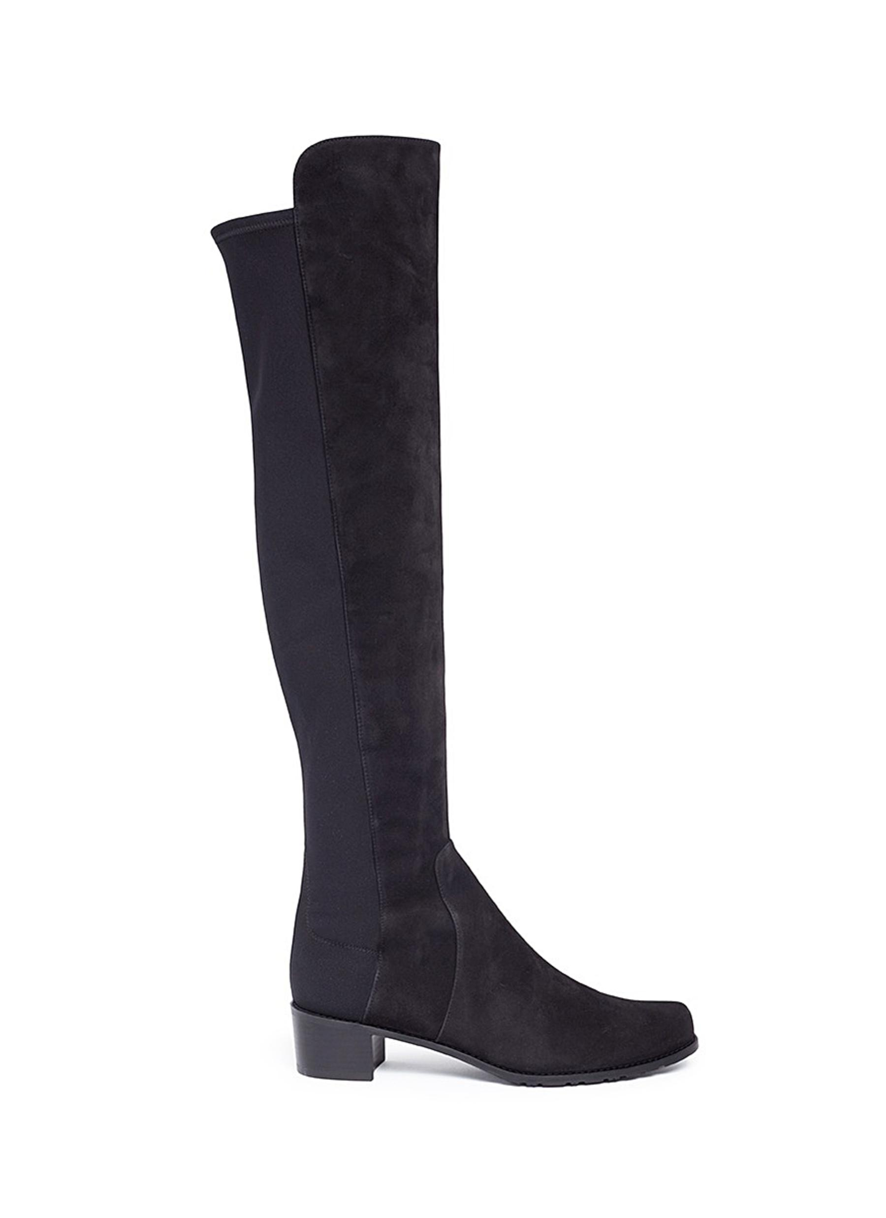 Stuart Weitzman Boots Reserve stretch suede knee high boots
