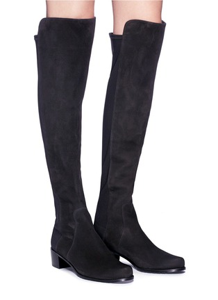 ab6eb84550c Figure View - Click To Enlarge - Stuart Weitzman -  Reserve  stretch suede  knee