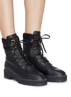 Stuart Weitzman 'Lexy' grainy leather combat boots