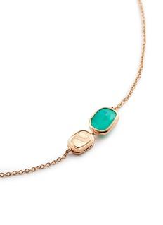 Roberto Coin 'Black Jade' diamond quartz agate 18k rose gold necklace
