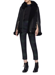 Acne Studios Zip cuff throatlatch oversized shearling coat