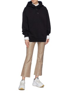 Acne Studios Twill panel patchwork leather pants