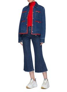 Acne Studios Frayed hem cropped flared jeans