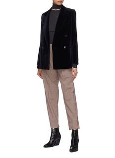 Acne Studios Peaked lapel double breasted oversized velvet blazer
