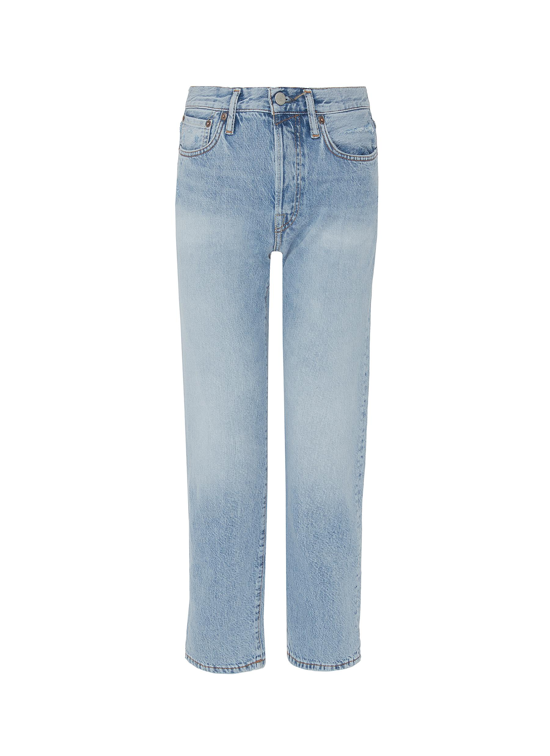 Washed straight leg jeans by Acne Studios
