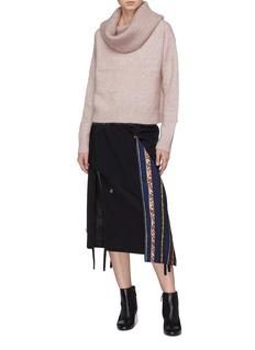Acne Studios Brushed foldover off-shoulder sweater