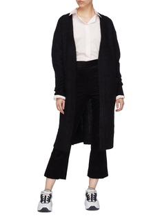 Acne Studios 'Raya' ribbed sleeve brushed open cardigan