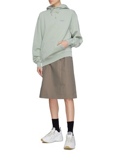 Acne Studios Logo embroidered panelled oversized hoodie