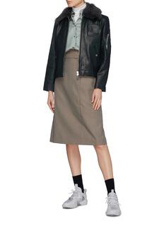 Acne Studios Scalloped border satin blouse