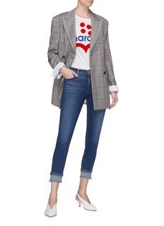 J Brand '835' layered cuff cropped slim fit jeans