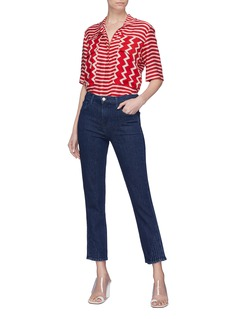 J Brand 'Ruby' pleated cuff cropped cigarette jeans