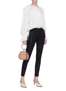 J Brand 'Zion' button side super skinny coated jeans