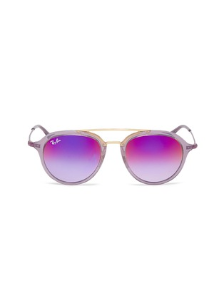 d3ad10d0ea RAY-BAN 'RJ9065S' acetate rim metal round junior mirror sunglasses
