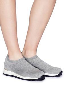 Pedder Red 'Dara' faux pearl knit sock sneakers